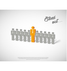 stand out with human icons in row vector 23097920